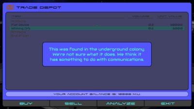 Trade Depot - Analyze