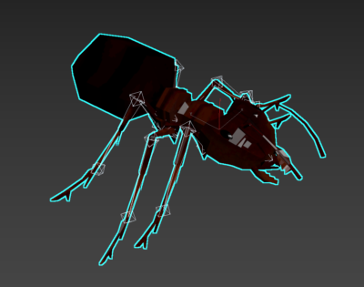 Low Poly Ant Model